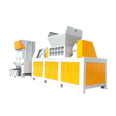 Shredder, double shaft crusher